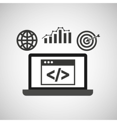 Data analysis icon vector