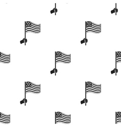 American flag icon in black style isolated on vector
