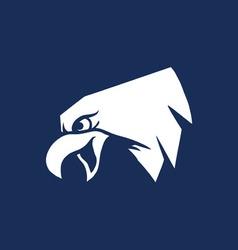 Bald eagle head silhouette vector