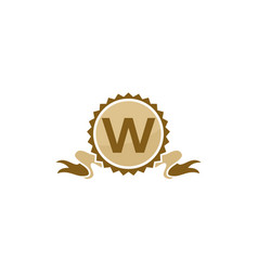 best quality ribbon letter w vector image