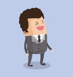 Businessman smiling cartoon vector