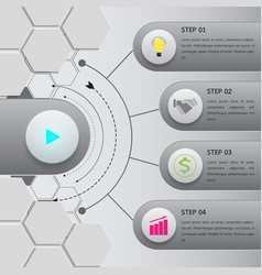 button infographic option template vector image