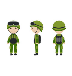 cartoon character of the worker soldier vector image
