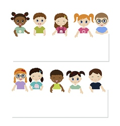 Children and banner vector image vector image