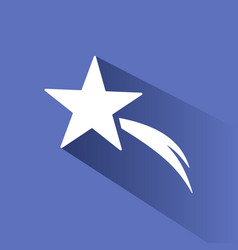 christmas star icon with shade on blue background vector image vector image