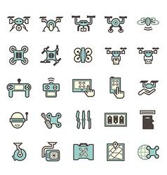 Drone icon Blue vector image