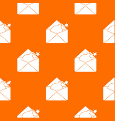 Envelope with bomb pattern seamless vector