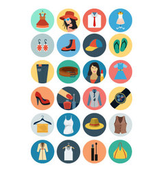 Fashion flat icons 1 vector