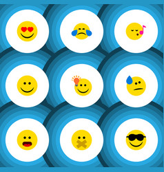 Flat icon emoji set of descant have an good vector