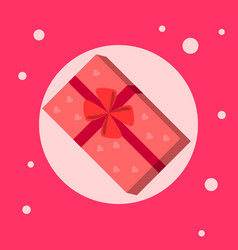 gift box icon on pink background vector image vector image
