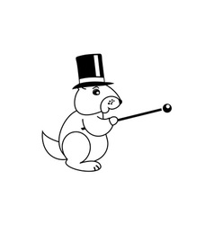 Groundhog-380x400 vector image