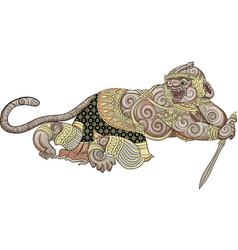 Hanuman thai traditional painting vector