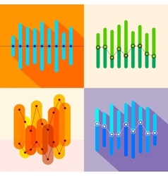 Infographics set with overlapping bars vector image vector image