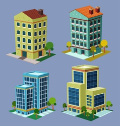 isometric building 3 vector image