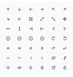 Line Arrow icon set vector image vector image