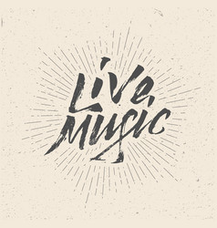live music sign badge logo poster flyer vector image vector image