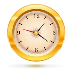 metallic wall clock vector image vector image