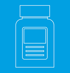 Pill bottle icon outline style vector