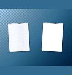 Realistic blank notepad textbook icon notepad vector