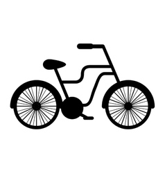 Retro bicycle isolated icon vector