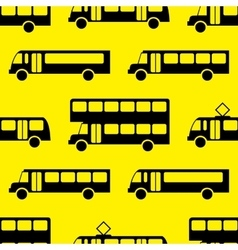 Retro bus seamless pattern vector