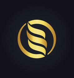 Round circle abstract gold logo vector