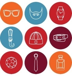 set of fashion accessories and vector image vector image