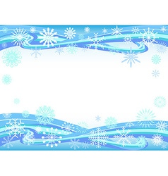 snowflakes curve background vector image