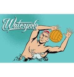 Summer kinds of sports Water polo vector image vector image