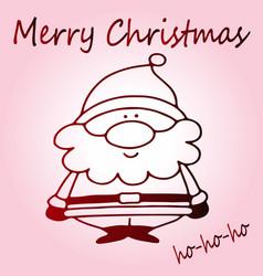 sweet santa claus christmas vector image