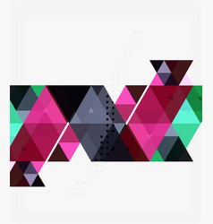 Triangle modern mosaic geometric template vector