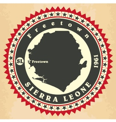 Vintage label-sticker cards of sierra leone vector