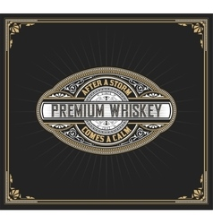 Premium whiskey label vector