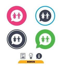 Toilet sign icon restroom symbol vector