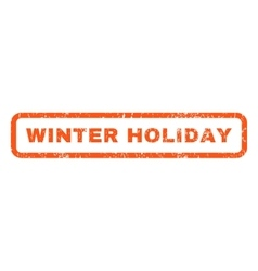 Winter holiday rubber stamp vector