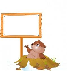 groundhog day billboard vector image