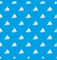 Sailing yacht pattern seamless blue vector