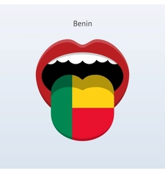 Benin language abstract human tongue vector