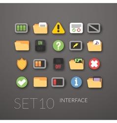 Flat icons set 10 vector image