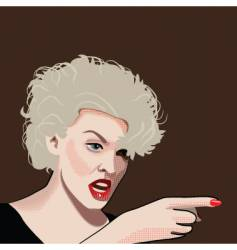 angry blond vector image