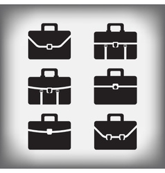 Set of 6 portfolios isolated vector