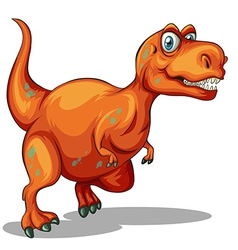 Dinosaur with sharp teeth vector