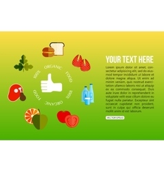 Organic food flat style design quality control vector