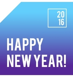 Blue square new year card design with gradient vector