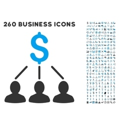 Shareholders icon with flat set vector