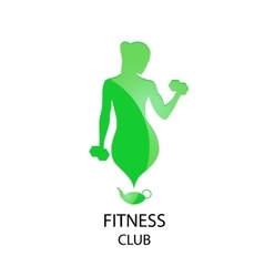 Green icon fitness club vector
