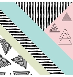 Abstract hand drawn geometric pattern vector