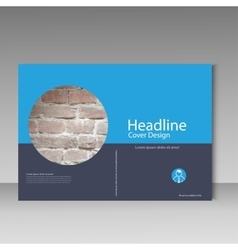 Brochure cover template  brick design vector