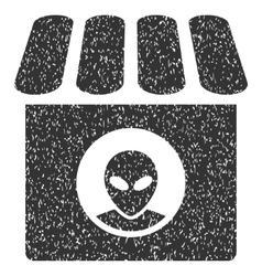 Alien shop grainy texture icon vector