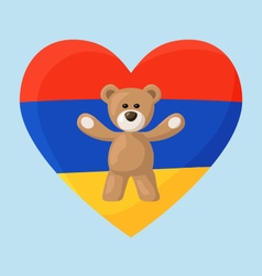 Armenian teddy bears vector